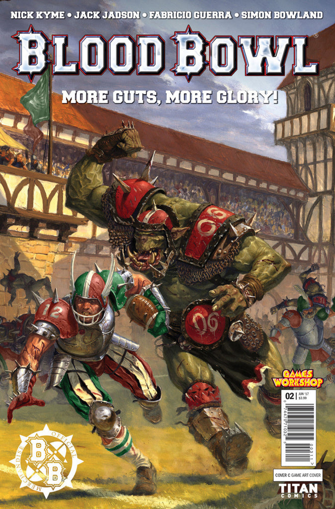 "Blood Bowl; More Guts, More Glory (2017 Mini-Series) #2 (of 4) (Variant ""C"" Cover - Game Art)"
