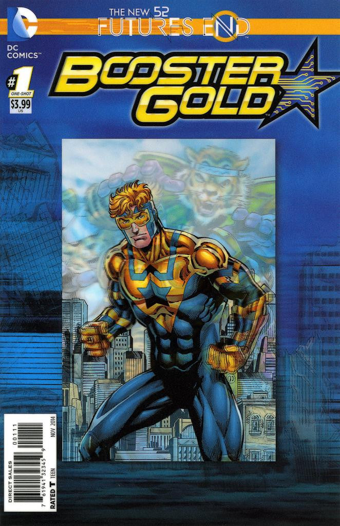 "Booster Gold: Future's End (2014 One-Shot) #1 (Variant ""3-D"" Cover - Dan Jurgens)"
