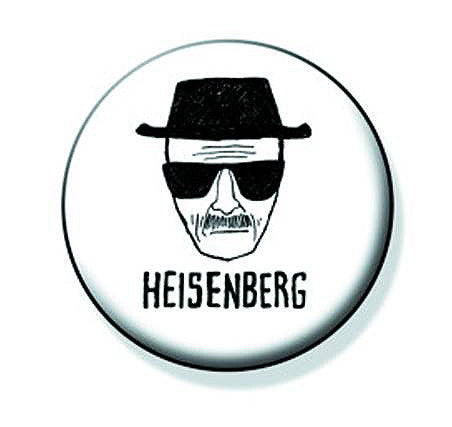 "Tin Button – Breaking Bad (TV) – Walter White Drawing ""Heisenberg"""