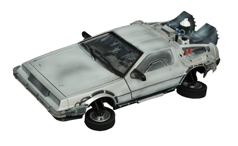 "Back to the Future II (Film) – DeLorean Time Machine Light-Up 1:15-Scale Vehicle (Variant Exclusive ""Frosted"" Version)"