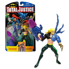 "Batman ""Total Justice"" Series – Aquaman 5"" figure with Blasting Hydro Spear"