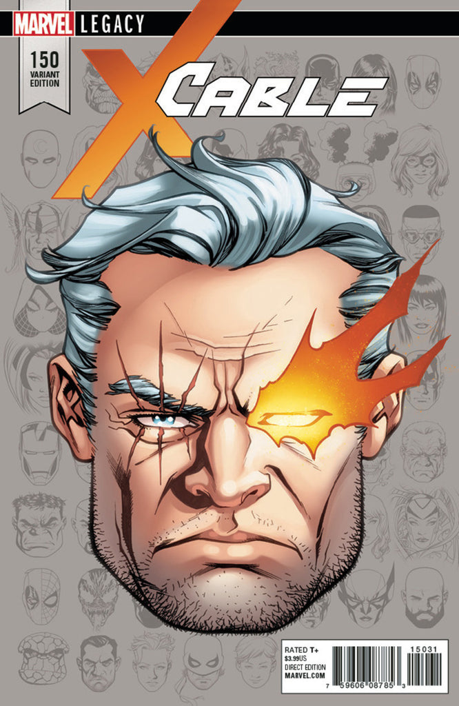 "Cable (2017 Series) #150 (Variant Incentive ""Legacy Headshot"" Cover - Mike McKone)"