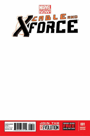 Cable and X-Force (2012 Series) #1 (Variant Cover - Blank)