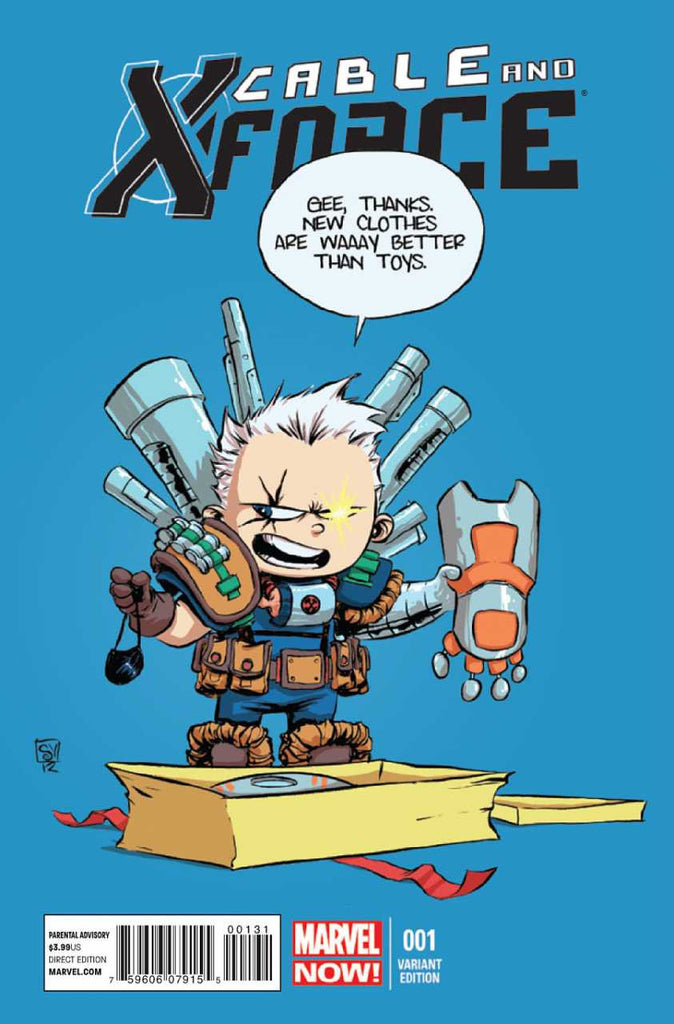 "Cable and X-Force (2012 Series) #1 (Variant ""Baby"" Cover - Skottie Young)"
