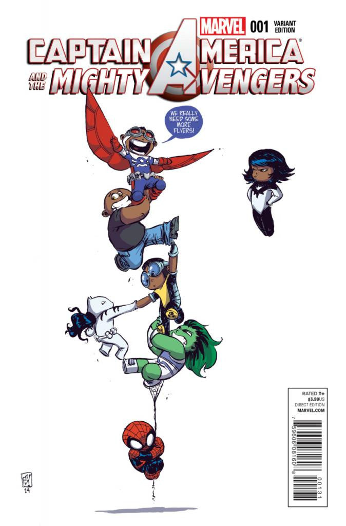 "Captain America and the Mighty Avengers (2014 Series) #1 (Variant ""Baby"" Cover - Skottie Young)"