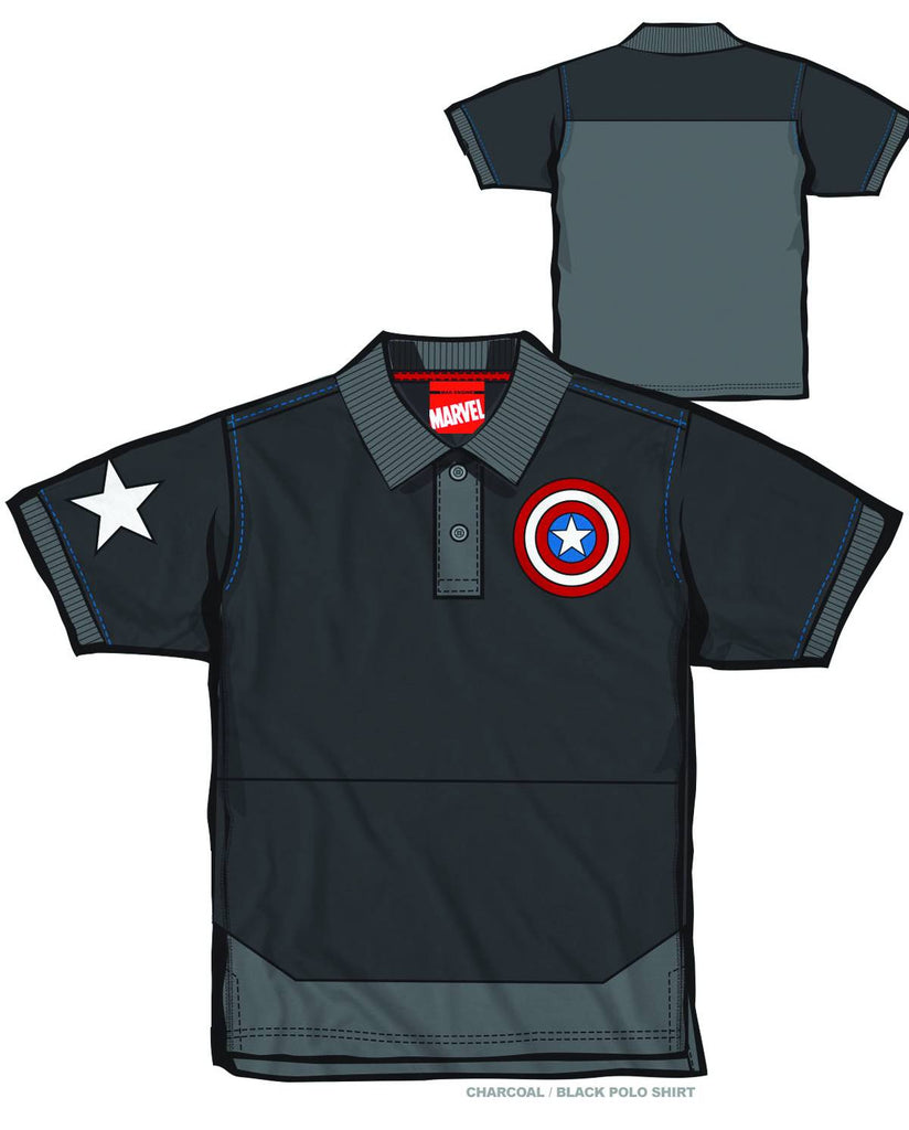 be70d2c3 Captain America – Adult Men's Polo Shirt (XXL) – DANZ COMIX and ...