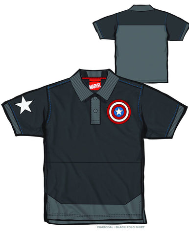 Captain America – Adult Men's Polo Shirt (XXL)