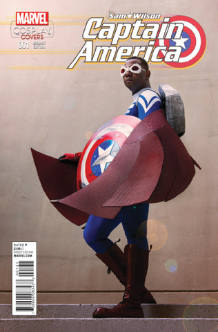 "Captain America; Sam Wilson (2015 Series) #1 (Variant Incentive ""Cosplay"" Cover - Photo)"