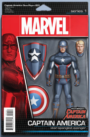 "Captain America; Steve Rogers (2016 Series) #1 (Variant ""Action Figure"" Cover - John Tyler Christopher)"