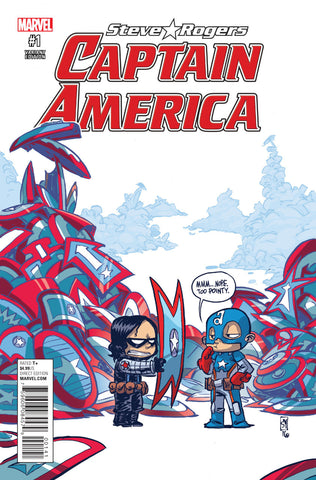 "Captain America; Steve Rogers (2016 Series) #1 (Variant ""Baby"" Cover - Skottie Young)"