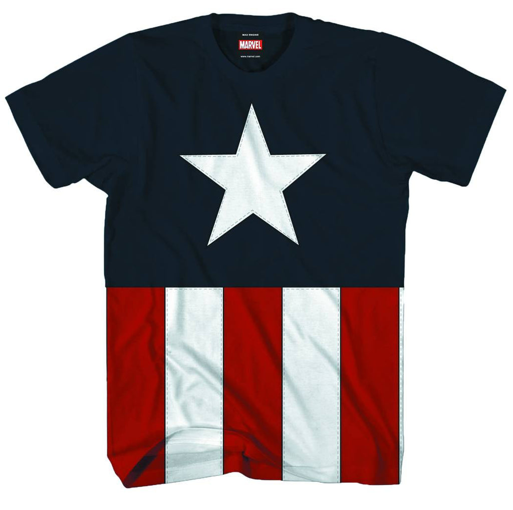 Captain America — Uniform Adult Men's T-Shirt (XXL)