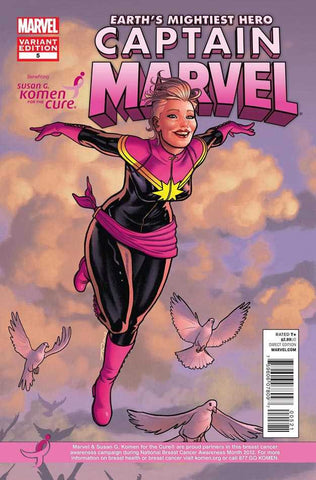 "Captain Marvel (2012 Series) #5 (Variant ""Susan G. Komen Race for the Cure"" Cover - Joe Quinnones)"
