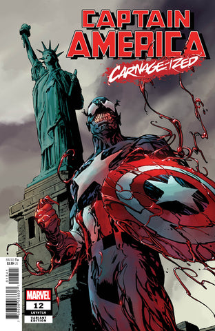 "Captain America (2018 series) #12 (Variant ""Carnage-ized"" Cover - Jackson ""Butch"" Guice)"