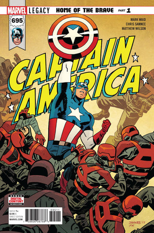 Captain America (2017 Series) #695 (Regular Cover - Chris Samnee)