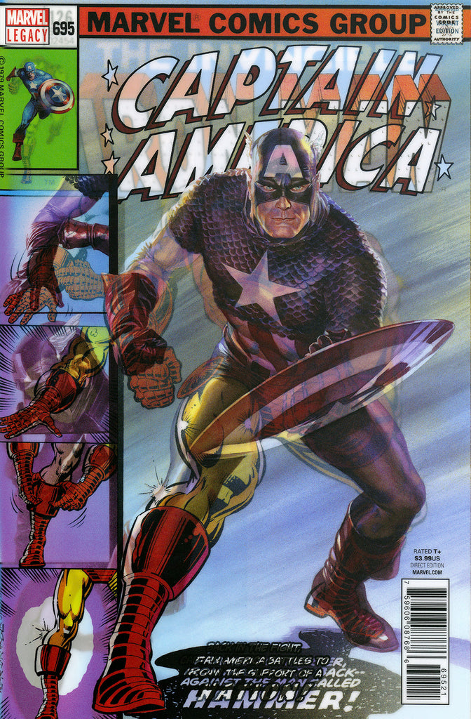 "Captain America (2017 Series) #695 (Variant ""3-D"" Lenticular Homage Cover - Alex Ross)"