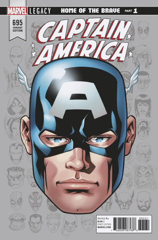 "Captain America (2017 Series) #695 (Variant  Incentive ""Legacy Headshot"" Cover - Mike McKone)"