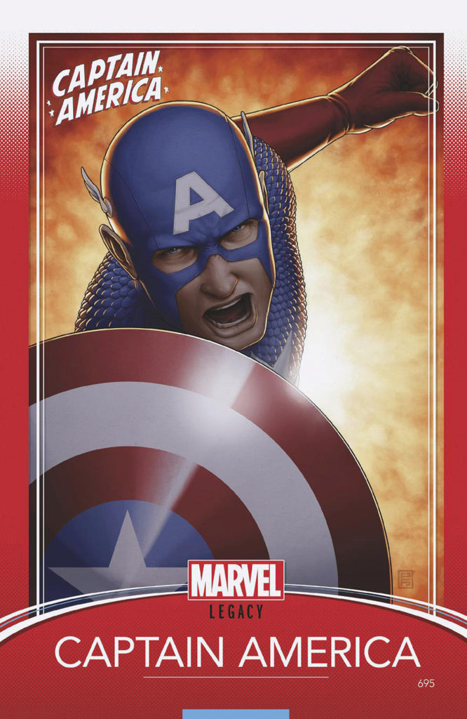 "Captain America (2017 Series) #695 (Variant ""Trading Card"" Cover - John Tyler Christopher)"