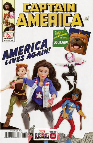 "Captain America (2018 series) #6 (Variant ""Marvel Rising Action Doll Homage"" Cover - Photo)"