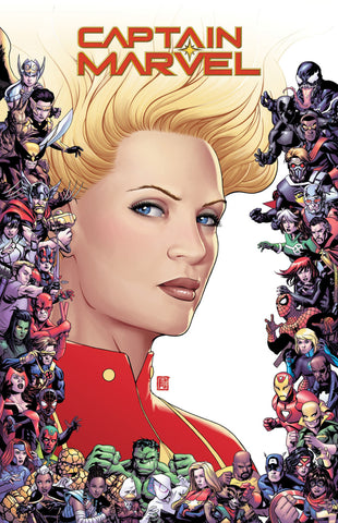 "Captain Marvel (2018 series) #9 (Variant ""Marvel 80th Anniversary Frame"" Cover - John Tyler Christopher)"