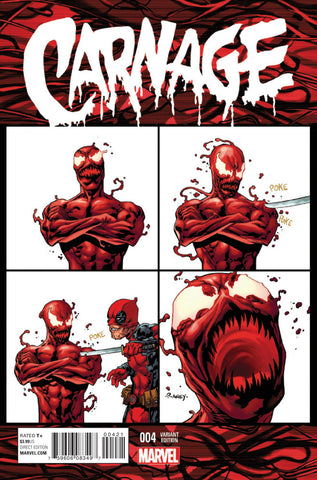 "Carnage (2015 Series) #4 (Variant Incentive ""Deadpool"" Cover - Tom Raney)"