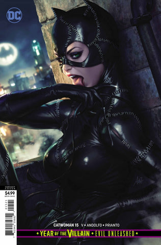"Catwoman (2018 Series) #15 (Variant ""Year of the Villain"" Card Stock Cover - Artgerm)"