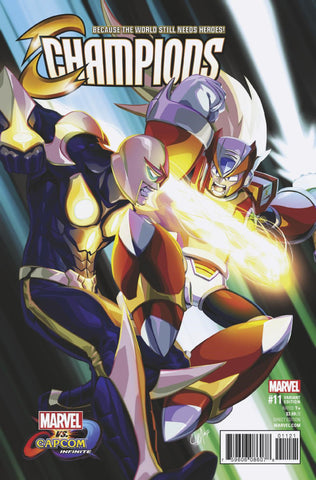 "Champions (2016 Series) #11 (Variant ""Marvel vs. Capcom: Infinite"" Cover - Chamba)"
