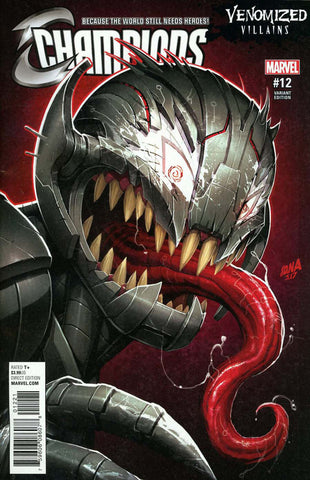 "Champions (2016 Series) #12 (Variant ""Venomized Villains"" Cover - David Nakayama)"