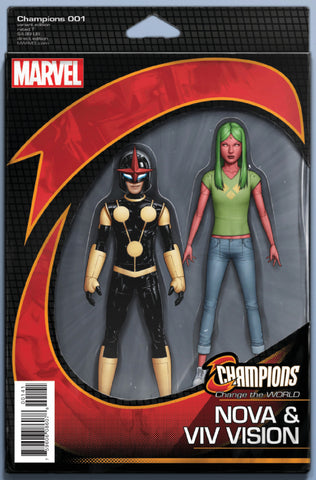 "Champions (2016 Series) #1 (Variant ""Action Figure"" Cover - John Tyler Christopher)"