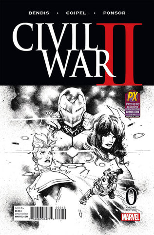 Civil War II (2016 Mini-Series) #0 (Variant SDCC 2016 B&W Cover - Olivier Coipel)