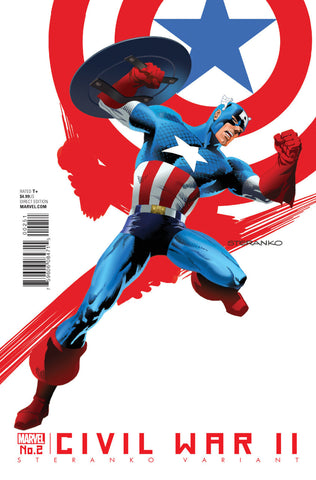 "Civil War II (2016 Mini-Series) #2 (of 8) (Variant ""Artist"" Cover - Jim Steranko)"