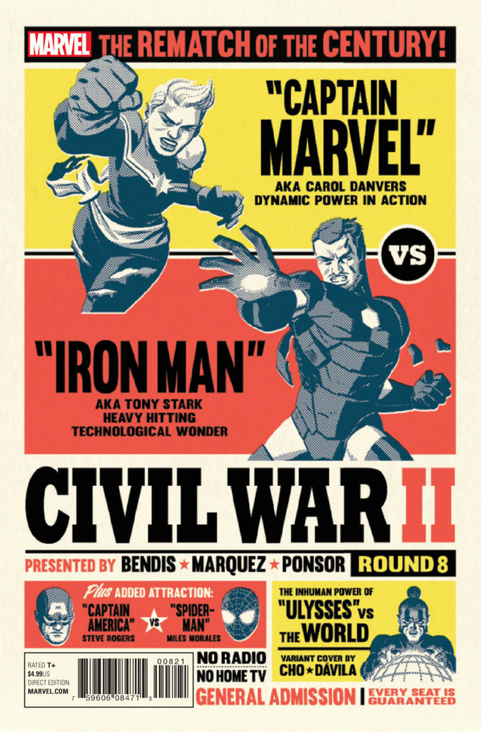 "Civil War II (2016 Mini-Series) #8 (of 8) (Variant ""Artist"" Cover - Michael Cho)"