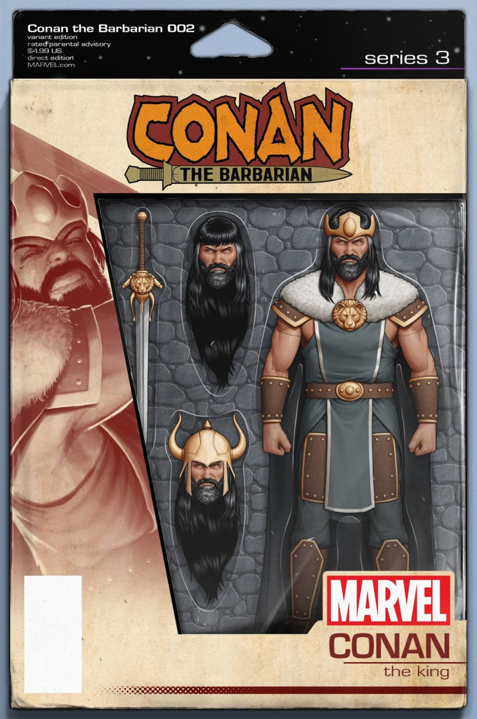 "Conan the Barbarian (2018 series) #2 (Variant ""Action Figure"" Cover - John Tyler Christopher)"