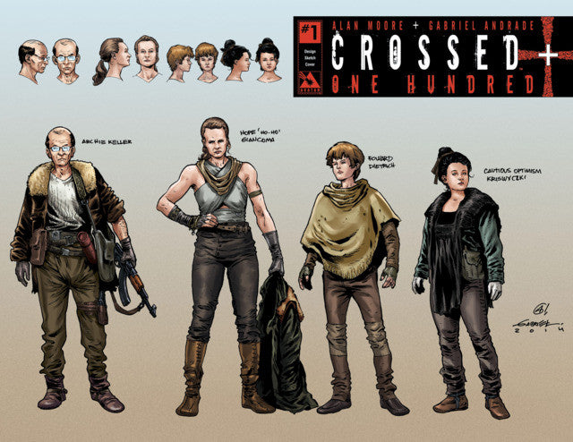 "Crossed +100 (2014 Series) #1 (Variant Incentive B ""Design Sketch"" Cover - Gabriele Andrade)"