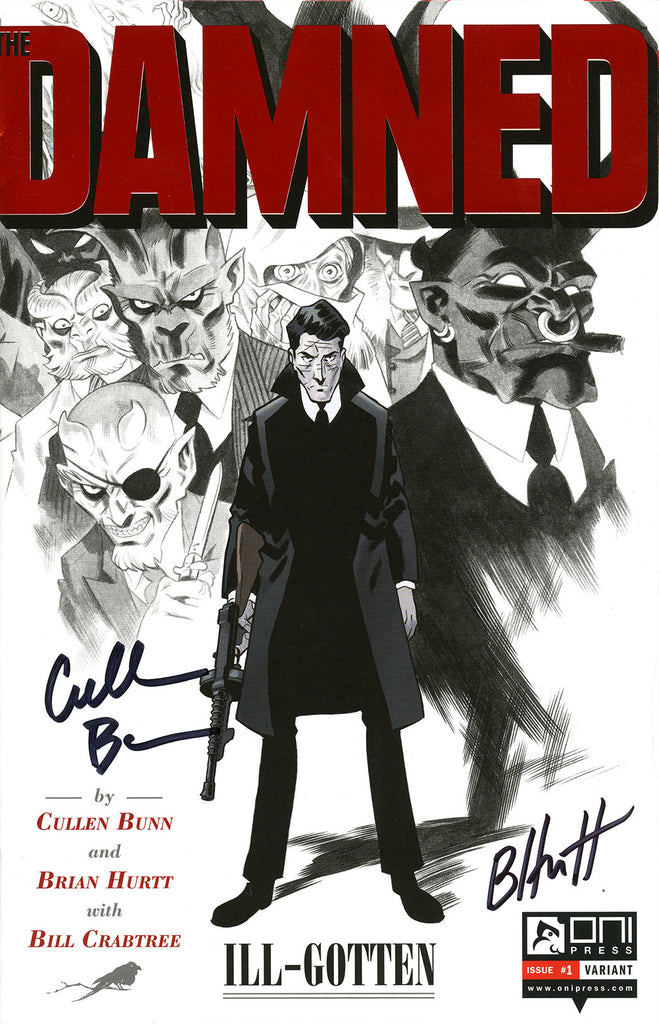 Damned (2017 Series) #1 (Variant Foil Stamp Signed Cover - Brian Hurtt)