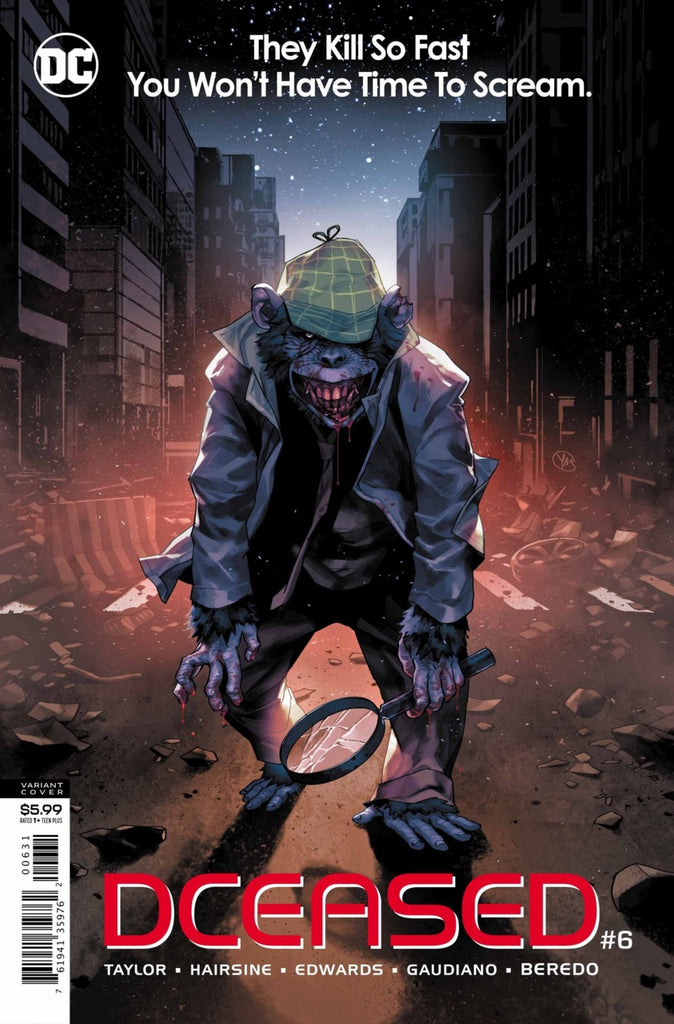 "DCeased (2019 mini-series) #6 (of 6) (Variant ""Horror"" Card Stock Cover - Yasmine Putri)"