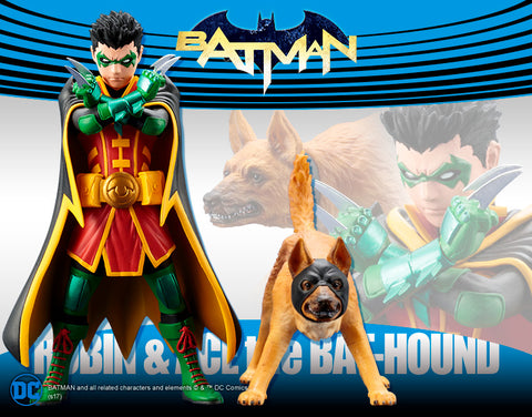 DC Universe – Batman – Robin & Ace the Bat-Hound ARTFX+ Statue 2-Pack
