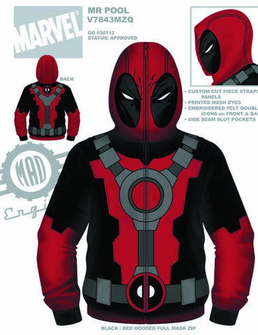 Deadpool – Uniform Adult Men's Fleece Zip-Up Hoodie (XXL)