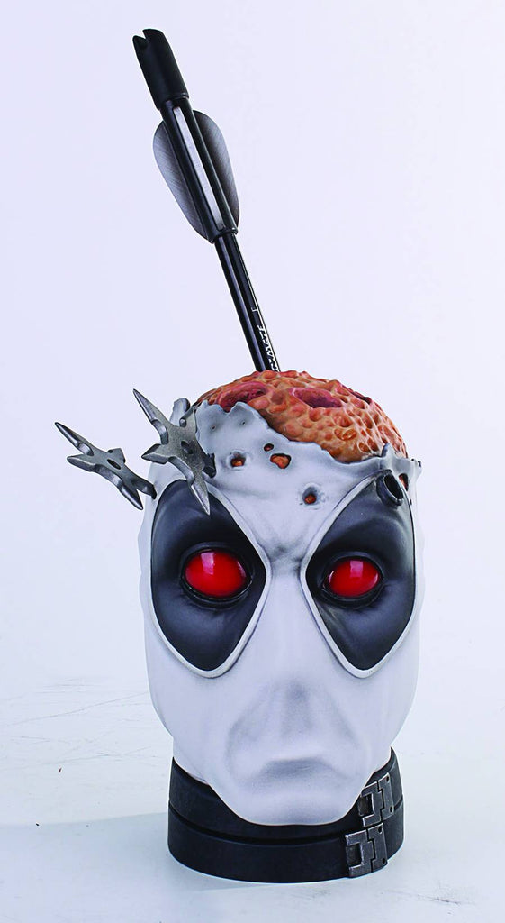 "Deadpool Head Pencil Holder Desk Accessory (Variant ""X-Force"" Version) Previews Exclusive"