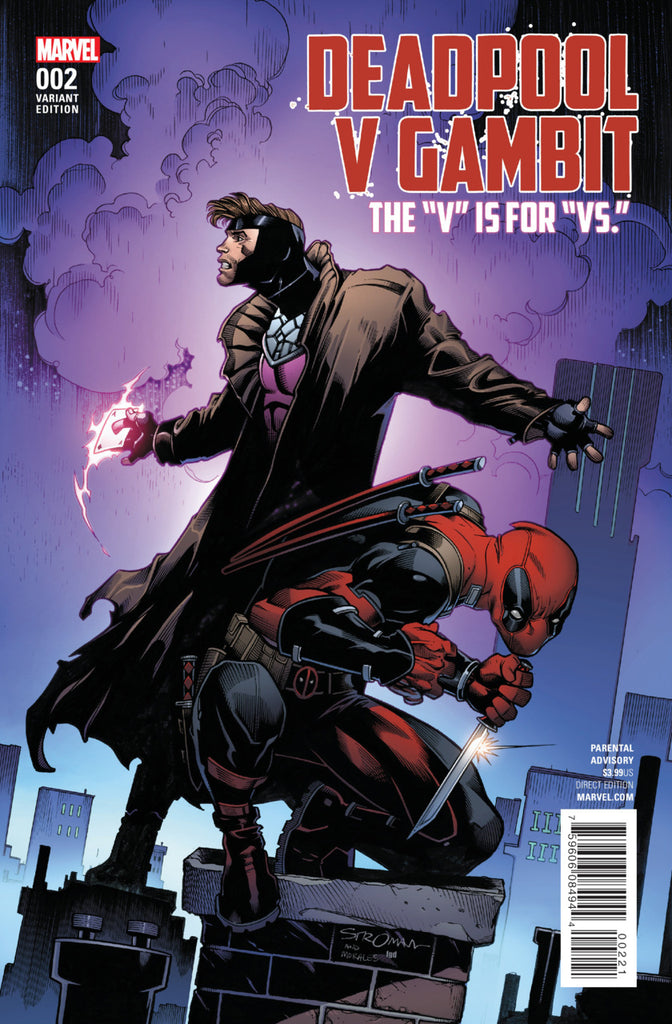 Deadpool v Gambit (2016 mini-series) #2 (of 5) (Variant Cover - Larry Stroman)