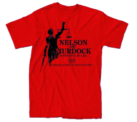 Daredevil (TV Series) – Nelson & Murdock; Attorneys at Law – Adult Men's Red T-Shirt XXL (Previews Exclusive)