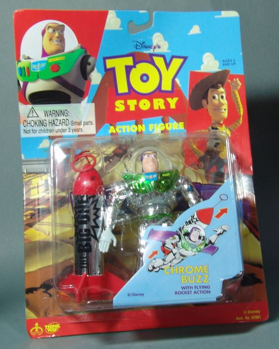 "Disney / Pixar's Toy Story (Film) Buzz Lightyear (Variant ""Chrome"" Version) 5"" Figure"