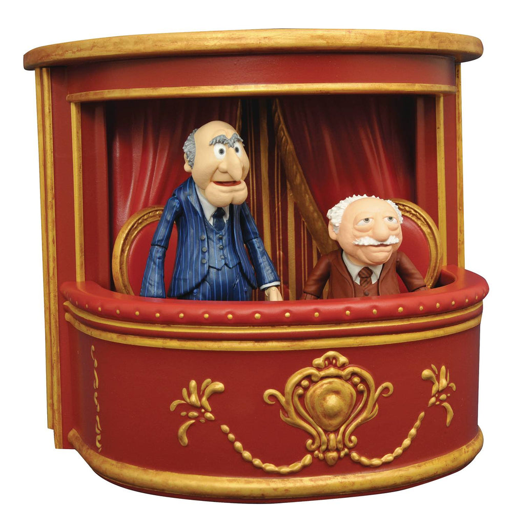 "Disney Select – The Muppet Show (TV) – Statler & Waldorf 7"" Figures Set with Balcony Diorama"