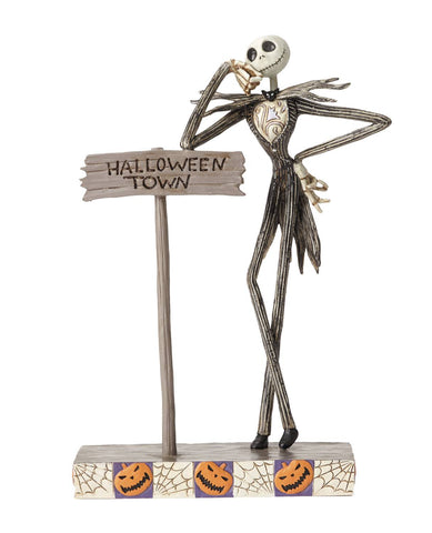 "Disney Traditions – Nightmare Before Christmas – Jack Skellington ""Welcome to Halloween Town"" Statue"