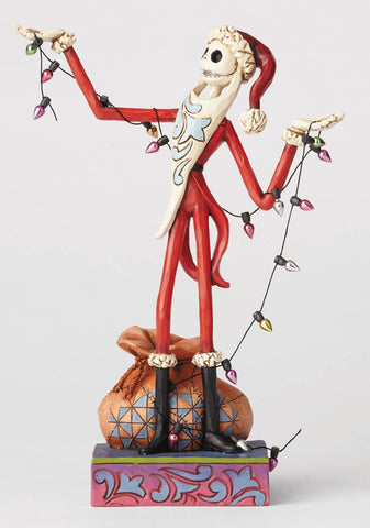 "Disney Traditions – Nightmare Before Christmas – Santa Jack ""Wrapped-Up in Christmas Spirit"" Statue"