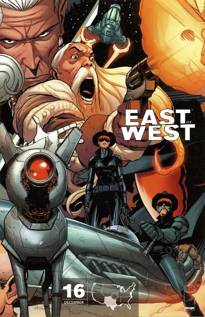 "East of West (2013 Series) #16 (Variant C ""The Republic of Texas"" Cover - Nick Dragotta)"