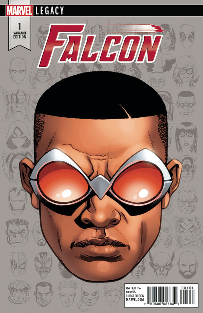 "Falcon (2017 Series) #1 (Variant Incentive ""Legacy Headshot"" Cover - Mike McKone)"