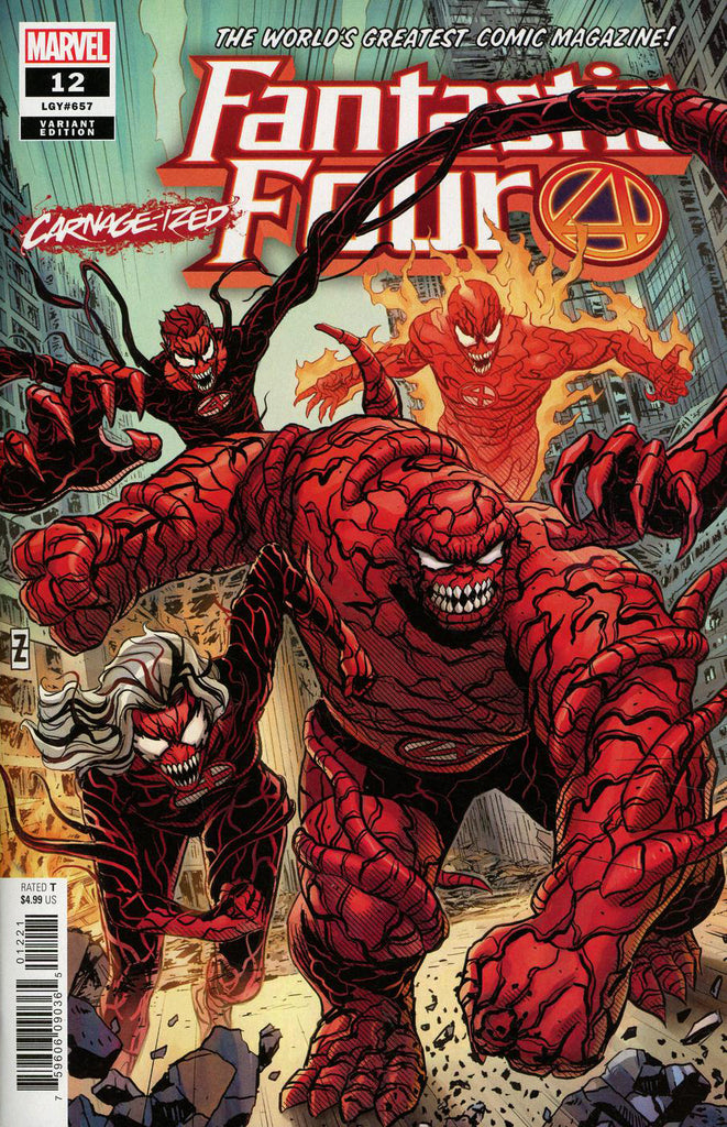 "Fantastic Four (2018 Series) #12 (Variant ""Carnage-ized"" Cover - Patrick Zircher)"