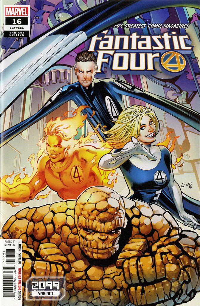 "Fantastic Four (2018 Series) #16 (Variant ""2099"" Cover - Greg Land)"