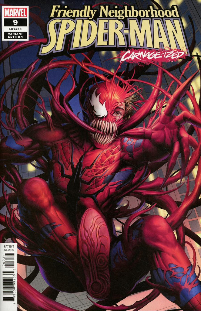 "Friendly Neighborhood Spider-Man (2019 series) # 9 (Variant ""Carnage-ized"" Cover - Woo Dae Shim)"