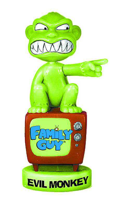 Family Guy (TV) – Wacky Wobbler Series 2 – Evil Monkey Bobble (Variant Glow-in-the-Dark Version) (SDCC 2006 Exclusive)